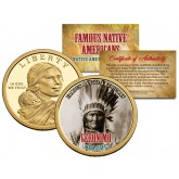 GERONIMO - Famous Native Americans - Sacagawea Dollar Colorized US Coin - APACHE Indians