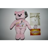 IT'S A GIRL Plush Bear & It's a Girl JFK Kennedy Half Dollar Colorized US Coin