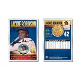 JACKIE ROBINSON Baseball Legends JFK Kennedy Half Dollar 24K Gold Plated US Coin Displayed with 4x6 Display Card