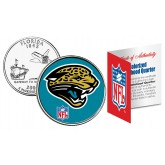 JACKSONVIL​LE JAGUARS NFL Florida US Statehood Quarter Colorized Coin  - Officially Licensed