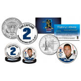 DEREK JETER The Yankees Captain #2 Retired May 14, 2017 U.S. 2-Coin Set (JFK Half Dollar & NY State Quarter)