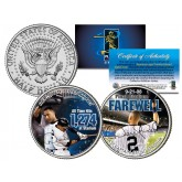 DEREK JETER - Yankee Stadium Farewell - Colorized JFK Half Dollar U.S. 2-Coin Set