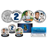 DEREK JETER * Life & Times * The Yankees Captain #2 Retired 2017 JFK Kennedy Half Dollar U.S. 3-Coin Set