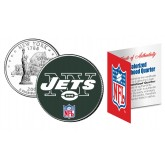 NEW YORK JETS NFL New York US Statehood Quarter Colorized Coin  - Officially Licensed