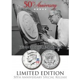 50th Anniversary - SPECIAL 50 YEARS LOGO - 2014 JFK Kennedy Half Dollar US Coin (P)