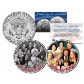 THE BRADY BUNCH - TV SHOW - Colorized JFK Half Dollar U.S. 2-Coin Set