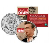 "JAMES DEAN "" Signature "" JFK Kennedy Half Dollar US Coin - Officially Licensed"