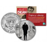 "JAMES DEAN "" 1955 NYC Boulevard of Broken Dreams "" JFK Kennedy Half Dollar US Coin - Officially Licensed"