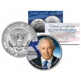 BENJAMIN NETANYAHU - Israel Prime Minister - Colorized JFK Kennedy Half Dollar U.S. Coin