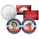 QUEEN ELIZABETH  - Longest Reigning Monarch in British History - Set of 2 Royal Canadian Mint Medallion Coins