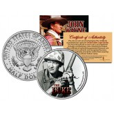 "JOHN WAYNE - THE DUKE "" Sands of Iwo Jima "" JFK Kennedy Half Dollar US Coin - Officially Licensed"
