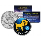 CAPRICORN - Horoscope Astrology Zodiac - JFK Kennedy Half Dollar US Colorized Coin