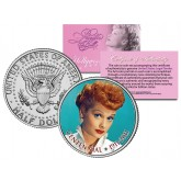 LUCILLE BALL - Centennial Birthday 1911-2011 - JFK Kennedy Half Dollar US Coin - I Love Lucy - Officially Licensed