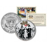 WIZARD OF OZ - Cast with Wizard - Colorized JFK Kennedy Half Dollar US Coin - Officially Licensed