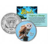 BARN OWL Collectible Birds JFK Kennedy Half Dollar Colorized U.S. Coin