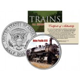 UNION PACIFIC 618 TRAIN - Famous Trains - JFK Kennedy Half Dollar U.S. Colorized Coin