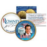 President MITT ROMNEY 24K Gold Plated JFK Kennedy Half Dollar Colorized Coin RARE PROMO