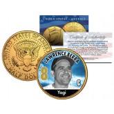 YOGI BERRA Baseball Legends JFK Kennedy Half Dollar 24K Gold Plated US Coin