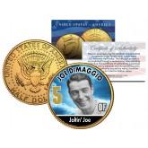 JOE DIMAGGIO Baseball Legends JFK Kennedy Half Dollar 24K Gold Plated US Coin