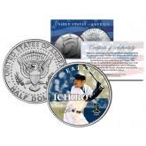 ICHIRO SUZUKI Collectible JFK Kennedy Half Dollar Colorized U.S. Coin SEATTLE MARINERS