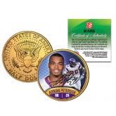 ADRIAN PETERSON JFK Kennedy Half Dollar 24K Gold Plated U.S. Coin MINNESOTA VIKINGS