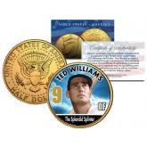 TED WILLIAMS Baseball Legends JFK Kennedy Half Dollar 24K Gold Plated US Coin