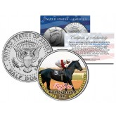 RUFFIAN - Racing's Greatest Filly - Thoroughbred Racehorse Colorized JFK Half Dollar US Coin
