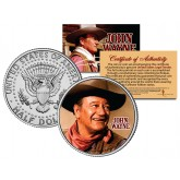 "JOHN WAYNE - MOVIE "" Chisum "" JFK Kennedy Half Dollar US Coin - Officially Licensed"