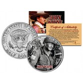 "JOHN WAYNE - MOVIE "" The Longest Day "" JFK Kennedy Half Dollar US Coin - Officially Licensed"