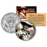 "JOHN WAYNE - MOVIE "" The Comancheros "" JFK Kennedy Half Dollar US Coin - Officially Licensed"