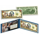 KENNEDY BROTHERS LEGACY Colorized $2 Bill US Legal Tender - ROBERT & TED & JOHN F