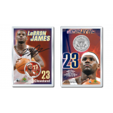 LEBRON JAMES Official Colorized JFK Kennedy Half Dollar U.S. Coin DRAFT PICK Displayed with 4x6 Display Card