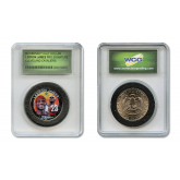 LEBRON JAMES Signature NBA Rookie Colorized JFK Kennedy Half Dollar U.S. Coin in Slabbed Serial Numbered Holder