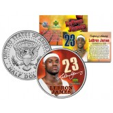 LEBRON JAMES Colorized JFK Kennedy Half Dollar U.S. Coin PRE-ROOKIE - Officially Licensed