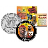 LEBRON JAMES Colorized JFK Kennedy Half Dollar U.S. Coin ROOKIE - Officially Licensed