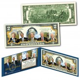 LIVING PRESIDENTS w/ DONALD TRUMP Official Genuine Legal Tender U.S. $2 Bill  (Barack Obama, George W. Bush, Bill Clinton, Jimmy Carter, and Donald Trump)