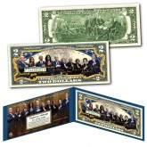 LIVING PRESIDENTS and FIRST LADIES Historical Official Genuine Legal Tender U.S. $2 Bill  (Obama, Bush, Bill Clinton, Carter, Trump)