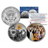 LOST IN SPACE - TV SHOW - Colorized JFK Half Dollar U.S. 2-Coin Set