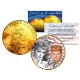 1976 LUCILLE BALL 24K Gold Plated IKE Dollar - Each Coin Serial Numbered of 376 - Officially Licensed