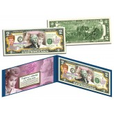 "LUCILLE BALL "" I Love Lucy - 100th Birthday "" Legal Tender U.S. Colorized  $2 Bill - Officially Licensed"