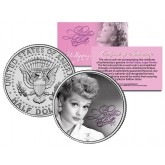 Lucille Ball - I Love Lucy Portrait - JFK Kennedy Half Dollar US Coin - Officially Licensed