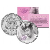Lucille Ball - I Love Lucy Elegant - JFK Kennedy Half Dollar US Coin - Officially Licensed