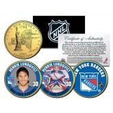 HENRIK LUNDQVIST - New York RANGERS - Colorized New York State Quarters U.S. 3-Coin Set - Officially Licensed