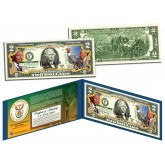 1918-2013 NELSON MANDELA - Father of a Nation - Genuine Legal Tender US $2 Bill