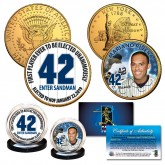 Mariano Rivera Hall of Fame 24K Gold Clad 2-Coin US Set New York Quarter & JFK Half Dollar