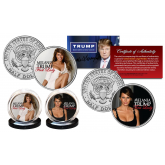 MELANIA TRUMP Republican First Lady 2016 Presidential Campaign Official U.S JFK Half Dollar 2-Coin Set