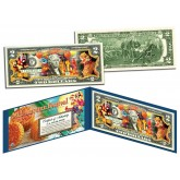Chinese & Vietnamese 2015 MID AUTUMN FESTIVAL Colorized U.S. $2 Bill Legal Tender Currency - Lucky Money