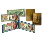 NELSON MANDELA 1918-2018 Centennial 100th Birthday Genuine US $2 Bill with FREE Mandela 23KT Gold Card