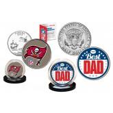 Best Dad - TAMPA BAY BUCCANEERS 2-Coin Set U.S. Quarter & JFK Half Dollar - NFL Officially Licensed