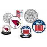 Best Dad - ARIZONA CARDINALS 2-Coin Set U.S. Quarter & JFK Half Dollar - NFL Officially Licensed